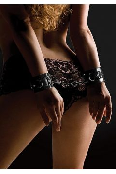 Leather Cuffs noir