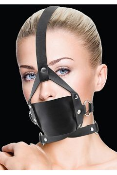 Leather Mouth Gag noir