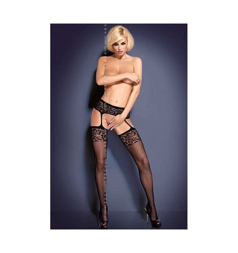 Collant garter stocking noir S500 S-M-L