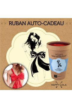 Ruban Auto-Cadeau rouge - Happy Lola